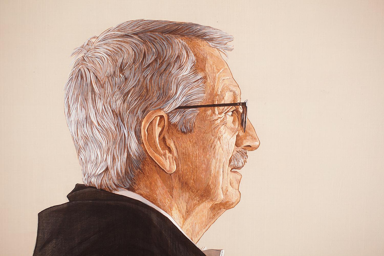 retrato institucional del ex rector de la UNED